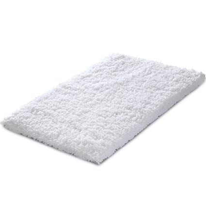 Kmat X Inch White Bath Mat Softgy Bathroom Rugs Non Slip Rubber Shower Rugs