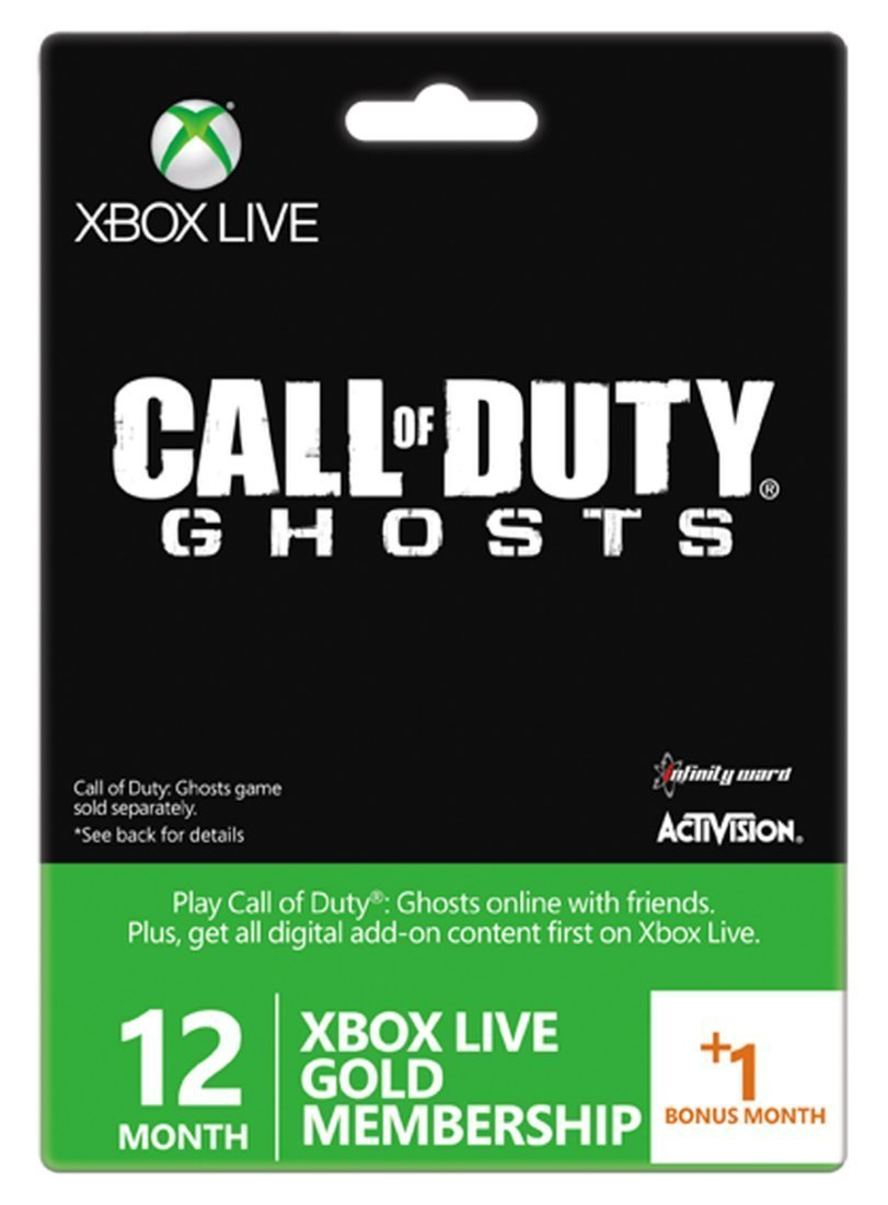 Carte Abonnement Xbox Live Gold 12 mois + 1 mois offert - Call of Duty: Ghosts [import europe]