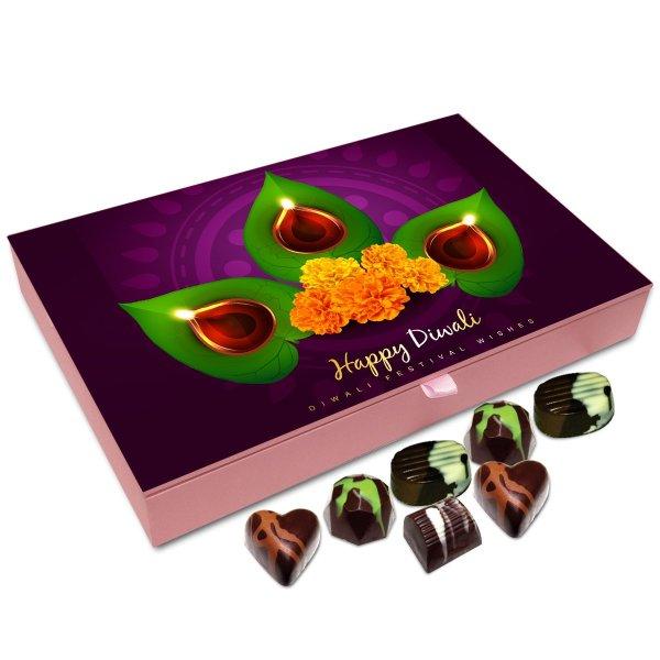 Chocholik Diwali Gift Box – Diwali Wishes to All My Super Friends Chocolate Box – 12pc