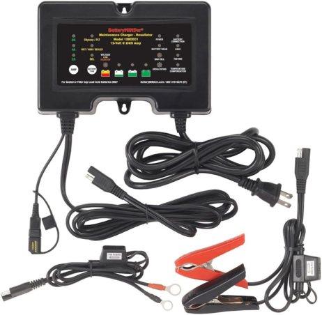 BatteryMINDer 128CEC1: 12 Volt-2/4/8 AMP Battery Charger, Battery Maintainer, and Battery Desulfator