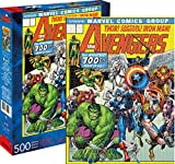 Aquarius Marvel Avengers Cover 500 Pc Puzzle, Multicolor