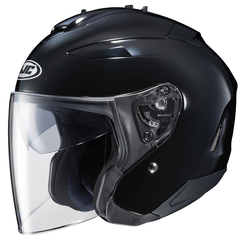 HJC IS-33 II Open-Face Motorcycle Helmet (Black, X-Large)