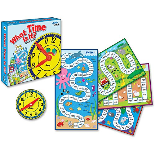 Carson-Dellosa 140314 4-in-1 Board Game, What Time is it, Grade 2, 113/pcs