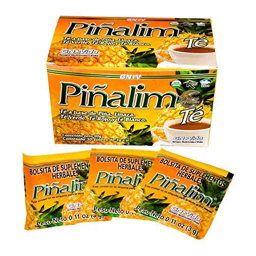 SmileMore Pinalim Tea/Te de Pinalim Mexican Version- Pineapple, Flax, Green Tea, White Tea - 30 Day Supply 1