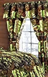 Regal Comfort The Woods Lime Green Camouflage 5pc Curtain Set for Hunters Cabin or Rustic Lodge Teens Boys and Girls(Curtain, Lime Green)