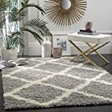 Safavieh Dallas Shag Collection SGD257G Grey and Ivory Area Rug (6' x 9')