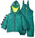 Carter's Baby Boys Character Snowsuit, Green Dinosaur, 12M