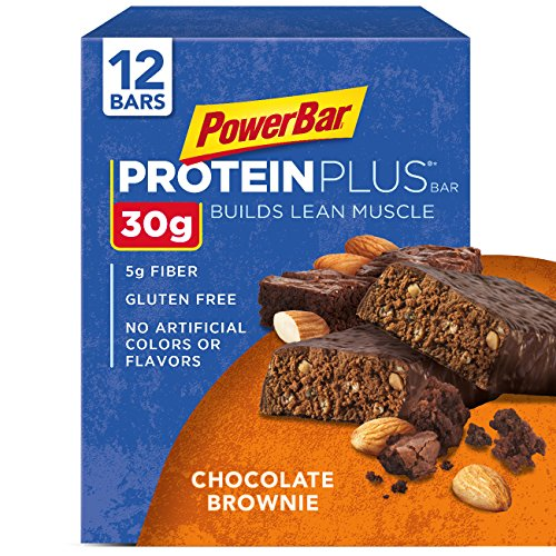 PowerBar Protein Plus Bar, Chocolate Brownie,  12 count, 3.28 oz Bar, (Pack of 12)
