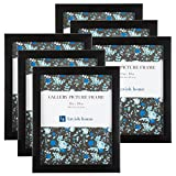 Picture Frame Set, 8x10 Frames Pack For Picture Gallery Wall With Stand and Hanging Hooks, Set of 6 By Lavish Home (Black)