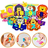 Foam Bath Toys - 100% Non-Toxic - Best Baby Bath Toy for Toddlers Kids Girls Boys - Foam Bath Numbers Toy Set of 27pcs - Preschool Educational Floating Bathtub Toys - Bath Toy Storage Mesh Bag