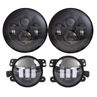 DOT Approved 7'' Black Daymaker LED Headlights
