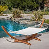 Christopher Knight Home Weston Larch Wood & Canvas Hammock w/Stand