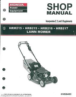 61ve2640e5 Honda Hrb215 Hrm215 Hrb216 Hrb217 Lawn Mower Manual