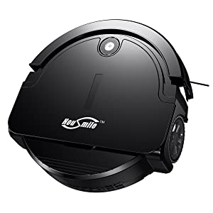 Housmile Robotic Vacuum Cleaner with Drop-Sensing Technology and Powerful Suction, for Hard Floor and Ultra-Thin Carpet.