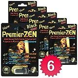 PremierZen Black 5000 6-Pills Male Enhancement Pill - Fast US Shipping