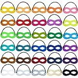 AZYC Superhero Masks Eye, Superhero Masks Cosplay Mask Half Masks Party Masks with Elastic Rope for Party, Multicolor(30pieces