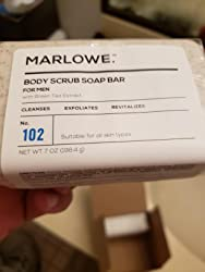 MARLOWE. No. 102 Men's Body Scrub Soap 7 oz | Best Exfoliating Bar for Men | Made with Natural Ingredients | Green Tea Extract | Amazing Scent Customer Image