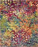 Unique Loom Jardin Collection Colorful Abstract Multi Area Rug (8' 0 x 10' 0)