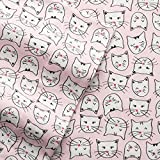 Cuddl Duds PINK CATS Flannel Sheet Set QUEEN Size 4-Piece (2016) Cat