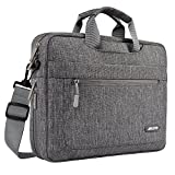 MOSISO Laptop Shoulder Bag Compatible 15-15.6 Inch MacBook Pro, Ultrabook Netbook Tablet with Adjustable Depth at Bottom, Polyester Messenger Briefcase Carrying Handbag Sleeve Case Cover, Gray