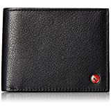 alpine swiss Men's RFID SAFE Deluxe Wallet Genuine Leather 14 Pocket ID Bifold, Black, One Size