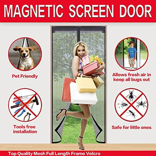 Mysuntown Magnetic Screen Door With Tight Magnet Seal Close