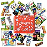 Healthy Snacks Variety Package (30 count) | Nuts, Bars & Snack Gift Box | Care Package | Travel and Office Snacks | Packed with Love by Jummybo