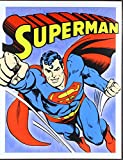 Superman Retro Panels Tin Sign, 13x16