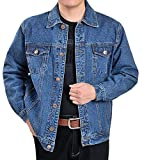 Product review for Fulok Mens Classic Rugged Motorcycle Trucker Denim Jean Jacket Coat
