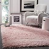 Safavieh Polar Shag Collection PSG800P Light Pink Area Rug, 4' x 6'