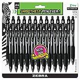 Zebra Pen Z-Grip Retractable Ballpoint Pen, Medium Point, 1.0mm, Black Ink, 24 Pack
