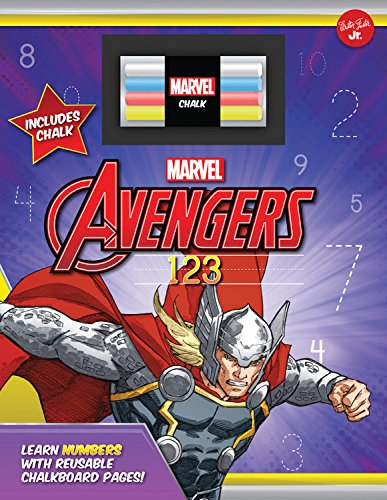 [fNOH4.Book] Marvel's Avengers Chalkboard 123: Learn numbers with reusable chalkboard pages! by Walter Foster Jr. Creative Team EPUB
