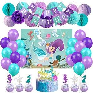Kreatwow Mermaid Party Decorations Set 619JPvhC64L