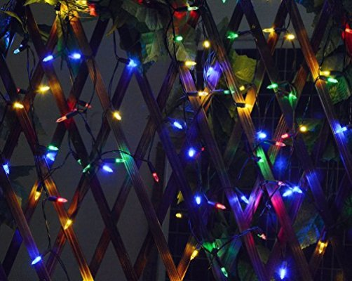 solar christmas string lights outdoor 50 led 23ft garden waterproof clear mini string lights solar powered christmas decoration lights for patio yard lawn - Solar Christmas Yard Decorations