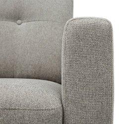 Amazon Brand – Rivet Sloane Mid-Century Modern Sofa with Tufted Back, 79.9″W, Pebble