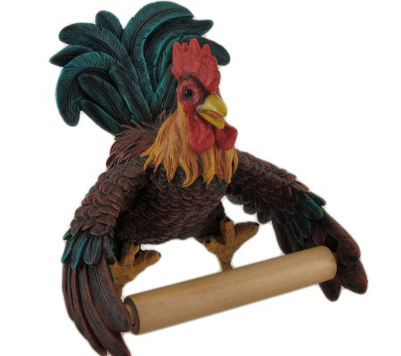 Rooster Shaped Fancy Toilet Paper Holder
