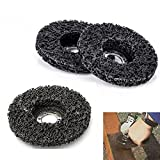 22 Pack 4-1/2' Stripping Wheel Strip Discs Clean adhesive Removal impregnated Paint Coating Rust Oxidation adhesive for wood metal fiberglass sander grinder polish grinding burnishing silicon carbide