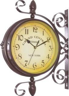 Homello Vintage Double Sided Wall Clock