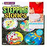 Made By Me Mix & Mold Your Own Stepping Stones by Horizon Group USA, DIY Craft Kit, Decorative Gemstones, 6 Paint Pots, Paint Brush, Gloves & Sticker Sheet Included, Multicolored