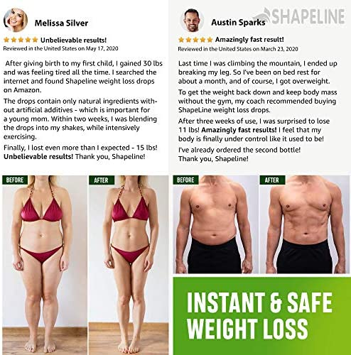 Weight Loss Drops - Appetite Suppressant for Women & Men - Made in The USA - Natural Metabolism Booster - Fast Weight Loss - Diet Drops with Garcinia Cambogia, L-Arginine & L-Glutamine 8