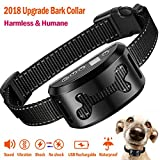 Bark Collar, Adjustable Sport Dog Bark Collar with 7 Level Beep Vibration Harmless Shock Mode for Small Medium Large Dog(15lbs to 150lbs),Rechargeable & Waterproof Intelligent No Bark Collar Device