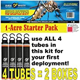 SPARTAN MOSQUITO ERADICATOR ONE Acre Starter Pack (4 Tubes); Best Whole Yard Outdoor Killer Barrier Solution; More Effective Than ShortTerm Insect Repellent Trap Mosquito Free Backyard Garden Patio