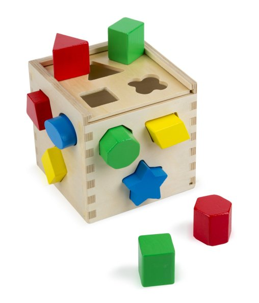 Image result for Melissa & Doug Shape Sorting Cube amazon