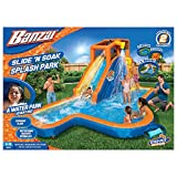 Banzai Slide 'N Soak Splash Park Constant Air Water Slide (Nearly 8ft Tall and Includes Blower Motor)