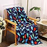 Noble House Dinosaur Fleece Throw Blanket Plush 50' x 60'