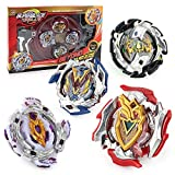 Bey Burst Battle Blades Battling Top Set Toys Battle Gyro , 4X High Performance Tops Metal Fusion Attack Set with Launcher and Grip Starter Grip , Stadium Arena