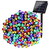 Joomer Solar String Lights 72ft 200 LED 8 Modes Solar Powered Christmas Lights Waterproof Decorative Fairy String Lights for Garden, Patio, Home, Wedding, Party, Christmas(Multi-Color)