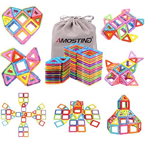 idoot Magnetic Blocks Building Set with Storage Bag - 56pcs