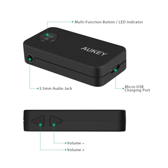 Produktdetails - Aukey Bluetooth 4.1 Empfänger Auto Adapter