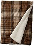 Woolrich Lumberjack Luxury Softspun D/A Filled Throw Brown 50x70   Plaid Premium Soft Cozy Cozy Spun For Bed, Couch or Sofa